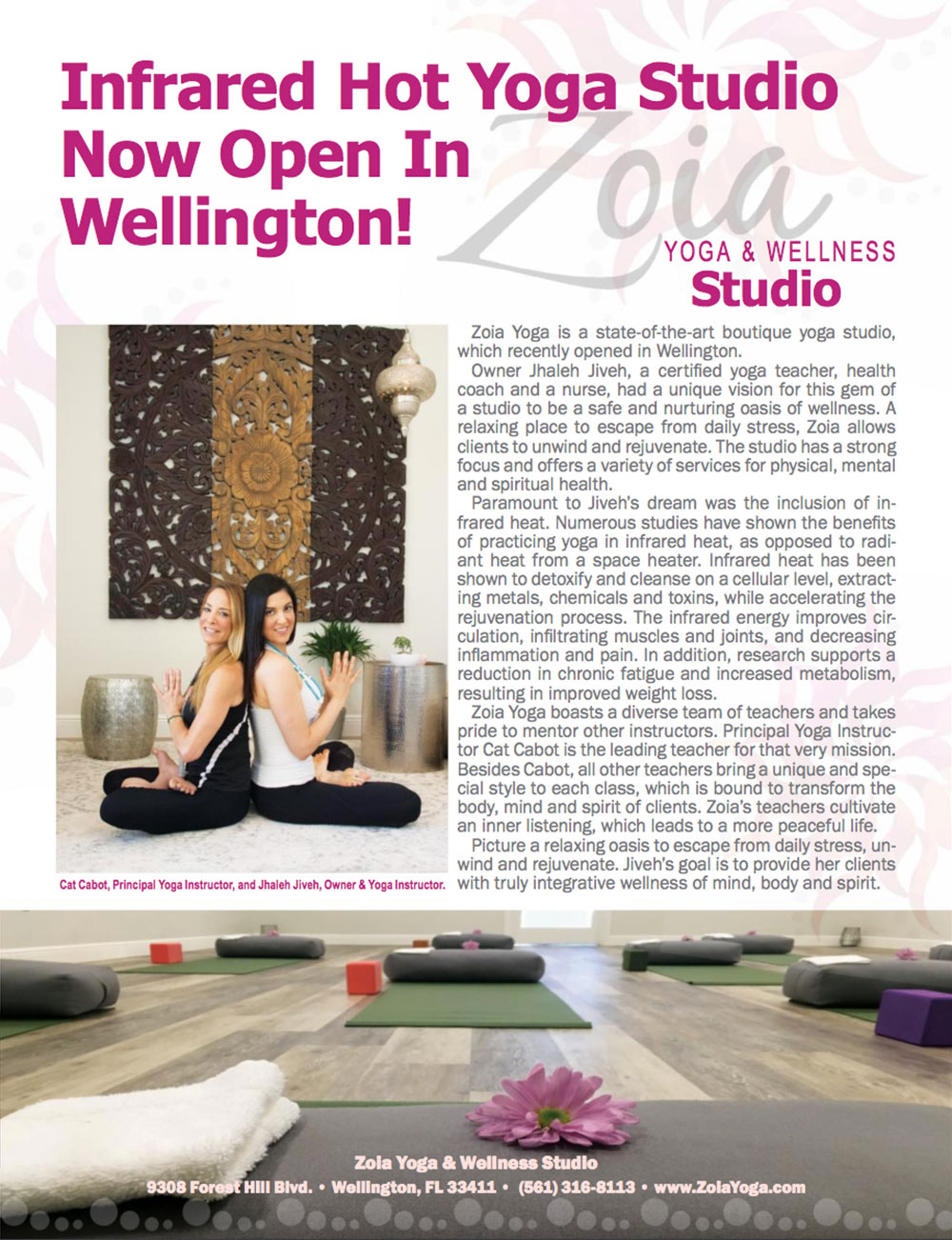 Article Featured in Wellington Magazine
