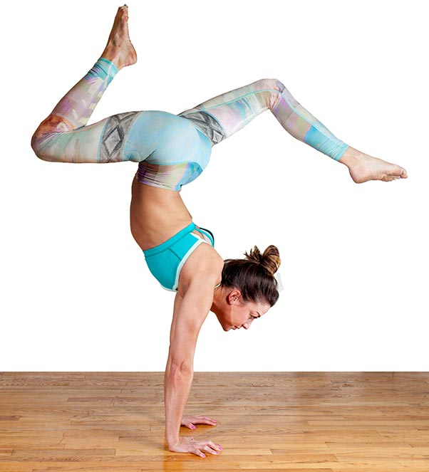 Physically Fit Woman Practicing Yoga